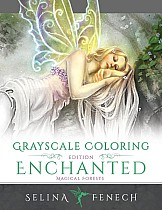 Enchanted Magical Forests - Grayscale Coloring Edition