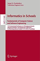 Informatics in Schools. Fundamentals of Computer Science and Software Engineering