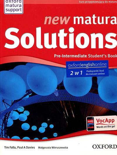new matura Solutions Pre-Intermediate Student's Book with e-book